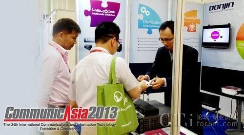 新加坡亚洲通信展,东进技术全面展示