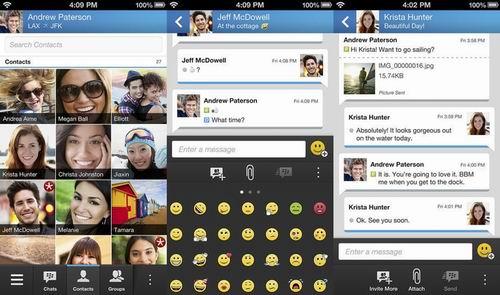 BlackBerry Messenger正式登陆APP Store