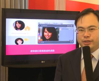 阿尔卡特朗讯呼叫中心解决方案经理黄健展台采访视频