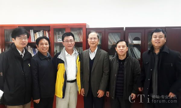 捷通华声董事长张连毅(左三)拜访张钹院士(右三)