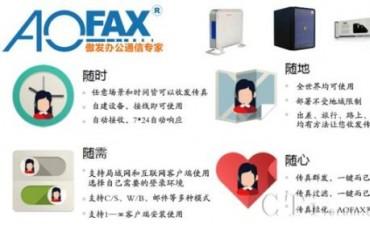 AOFAX电子数码传真机,电脑无纸传真服务器系统
