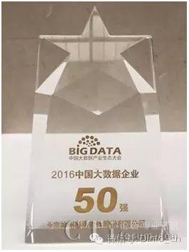 """神州泰岳荣获""""2016中国大数据企业50强"""""""