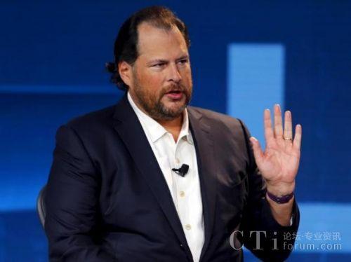 图:Salesforce CEO马克・贝尼奥夫