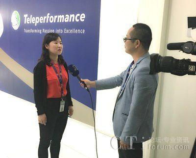 公司市场部经理May Lin女士代表公司接受陕西电视台的采访