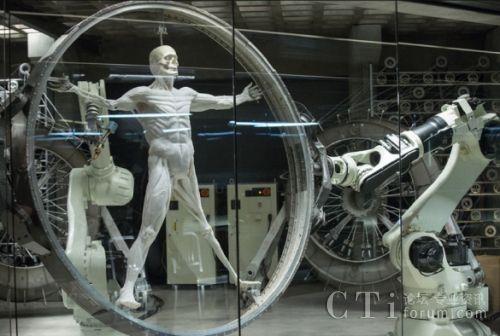 配图二:美剧《西部世界》中栩栩如生的机器人半成品