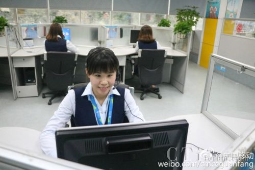 中国移动10086呼叫中心晒高颜值客服妹 ――她们很敬业