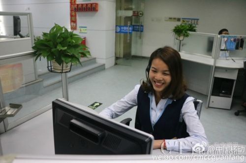 中国移动10086呼叫中心晒高颜值客服妹 ——她们很敬业图片