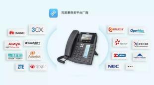 方位全新双屏智能企业级网络电话―X5S