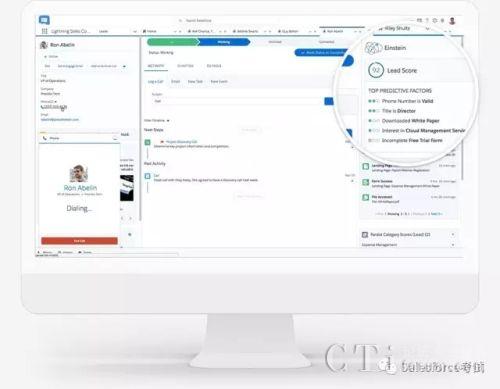 Salesforce发布以AI驱动的新平台:爱因斯坦高速销售云