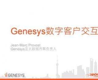 Genesys亚太数据方案负责人《Genesys数字客户交互》