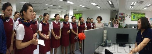 国航客舱服务部电话销售服务中心开展党建交流活动