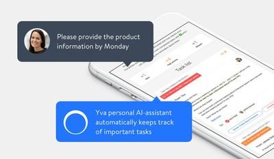 人工智能私人助理Yva.ai能够自动持续追踪用户的重要任务