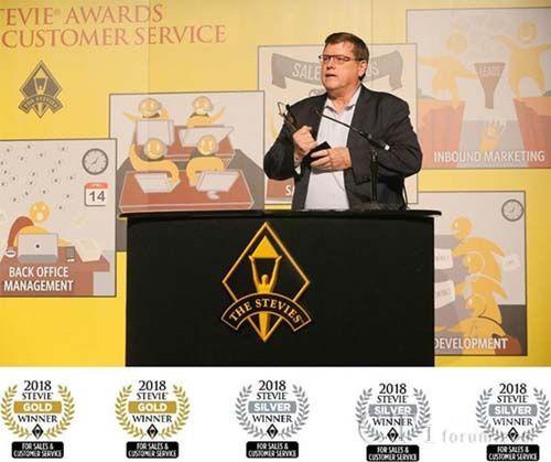 维音获2018史蒂维销售和客户服务奖多项金奖和银奖