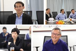 商务部政策研究室主任沈丹阳一行莅临亿联网络考察调研