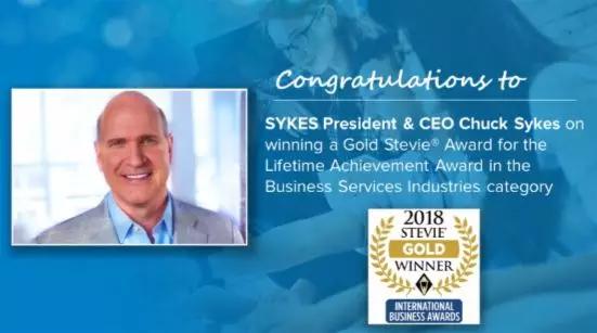 SYKES荣登国际企业大奖 (2018 Stevies)