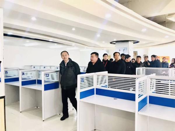 忻州市长调研山西千陌大数据呼叫中心,提出三点要求