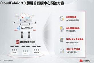 华为CloudFabric3.0超融合数据中心加速构建云南移动智能云网