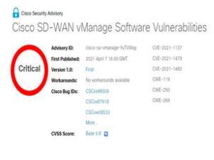 思科修补SD-WAN vManage的远端程式攻击漏洞
