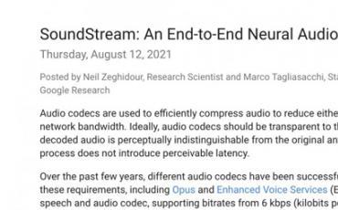 Google应用神经网络开发音频编码器,不只压缩音频还能抑制噪音